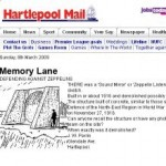 Hartlepool Mail letter about a sound mirror